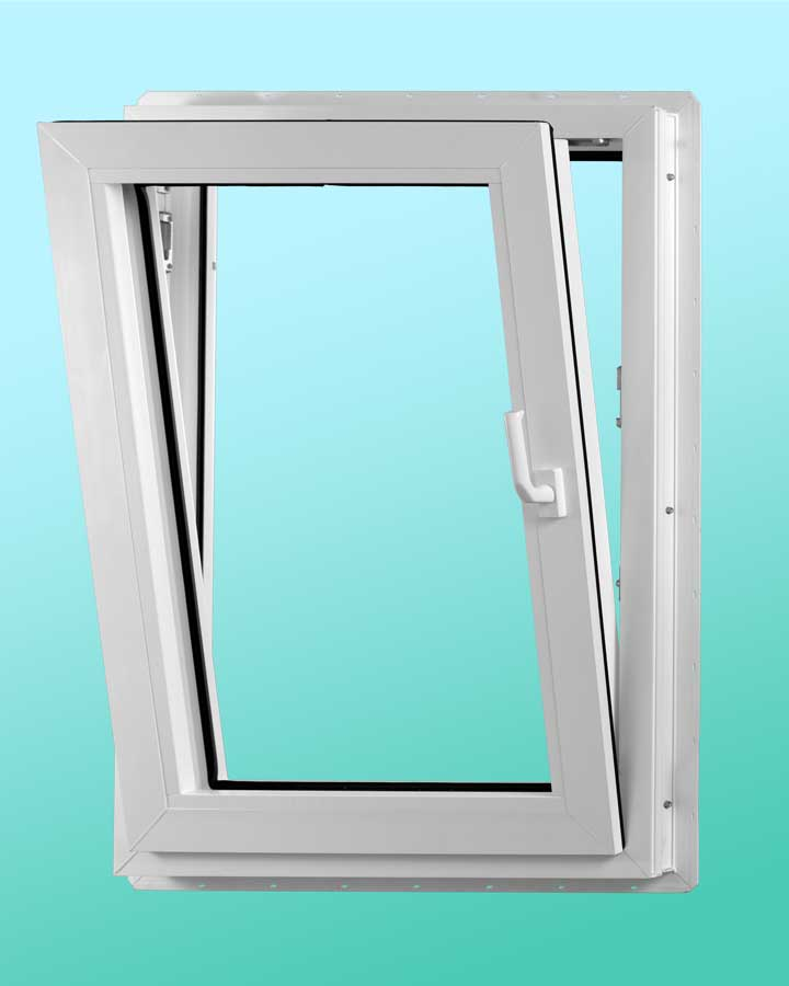 Series 1000 Vinyl Tilt-Turn Window - Tilted Position