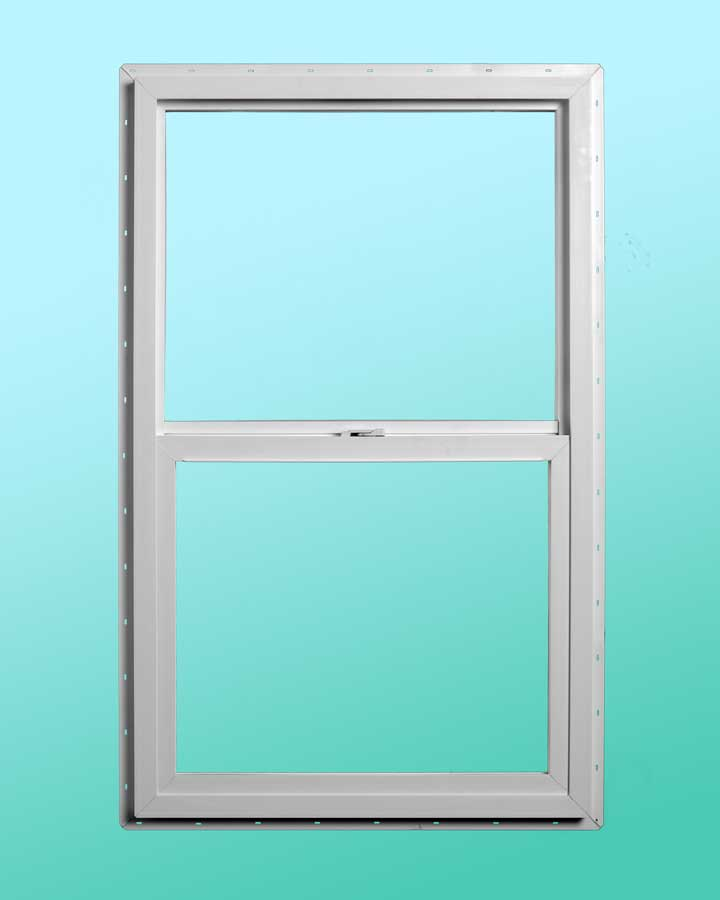 Slim Line Vinyl Single Hung Window - Interior Closed Position