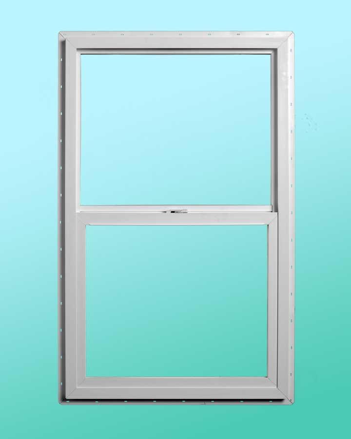 Slim Line Vinyl Single Hung Window - Interior Closed Position