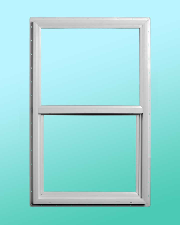 Slim Line Vinyl Single Hung Window - Exterior View