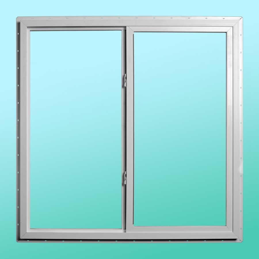 Slim Line Vinyl Slider Window - Interior Closed Position