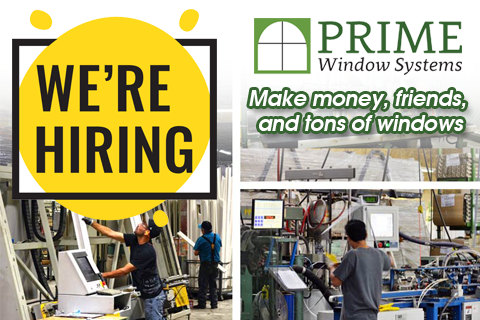 Prime Windows - We're Hiring