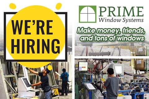 Prime Windows - We're Hiring